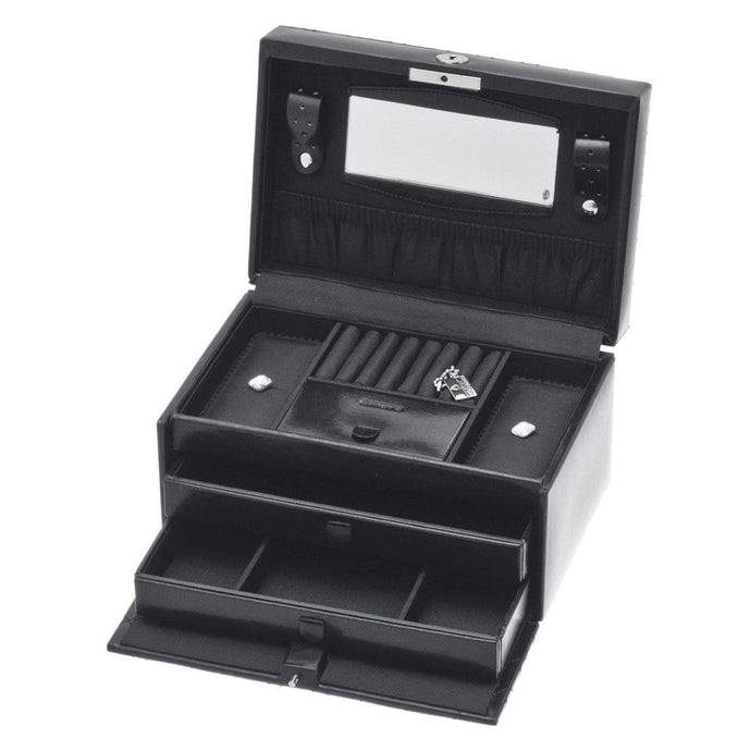 Davidts Black Strass Diamante Medium Jewellery Box