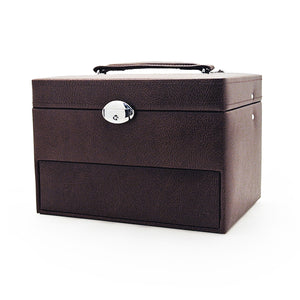 Dark Brown Cantilever Jewellery Box