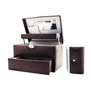 Davidts Dark Brown Cantilever Jewellery Box