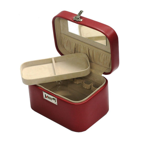 Davidts Red Lockable Vanity Make Up Case with Tray