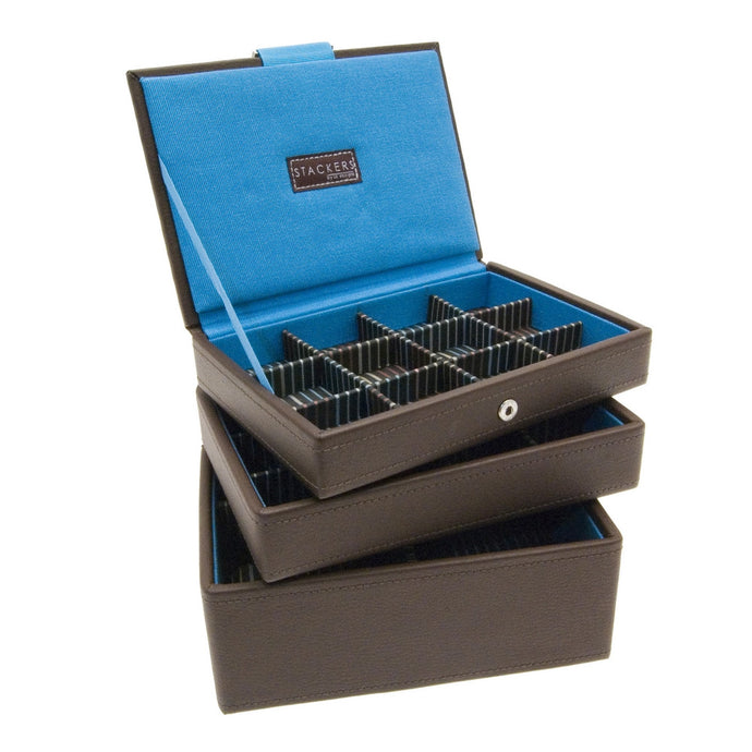Stackers Set of 3 Brown Gents Mini Stacker Jewellery Trays