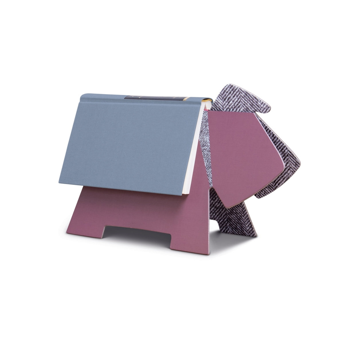 If Stay! Doggy Book Rest - Purple Herringbone