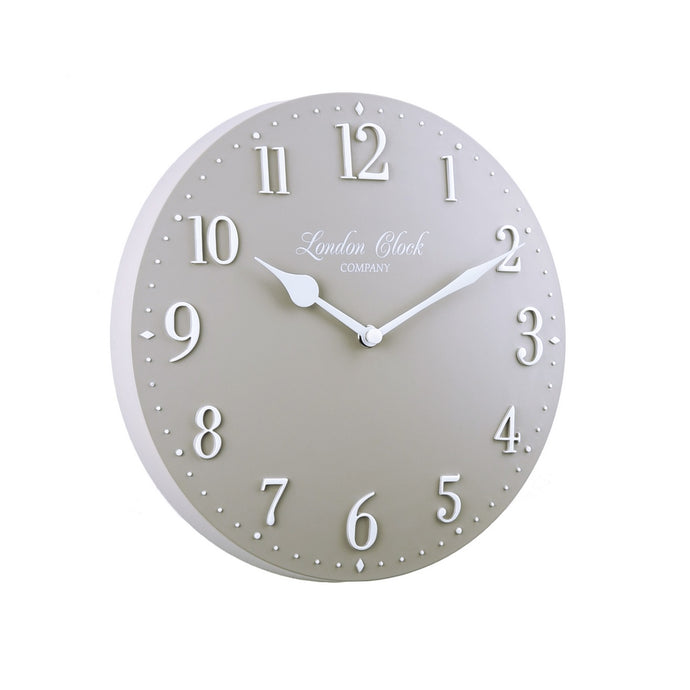 London Clock 1922 25cm Heritage Amelia Grey Resin Wall Clock