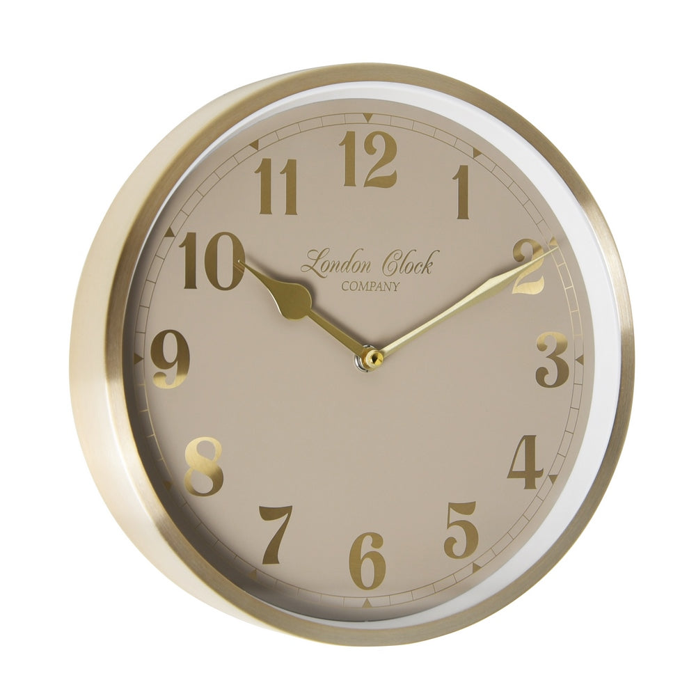 London Clock 1922  25cm Heritage Florrie Champagne Gold Wall Clock