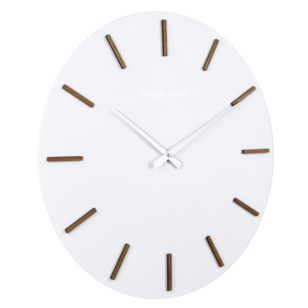 London Clock 1922 35cm Oslo Hvit White Wall Clock