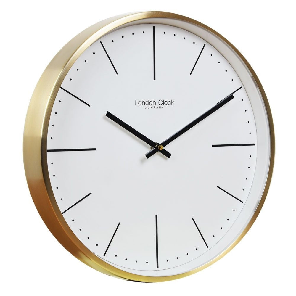 London Clock Co 3 cm Gold Case Wall Clock