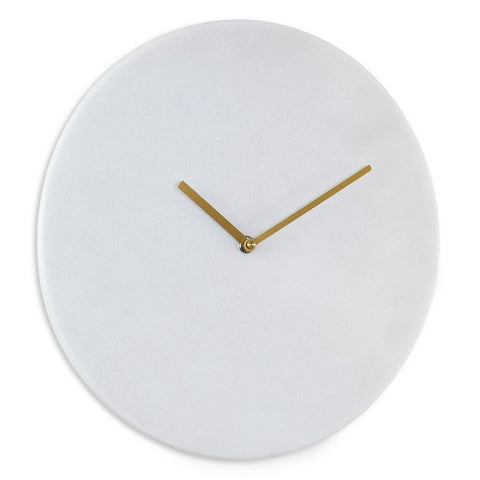 London Clock Co 35 cm White Marble Wall Clock