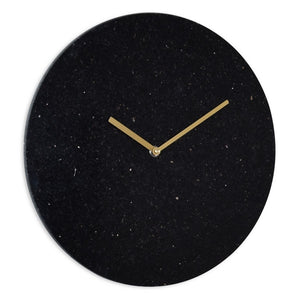 London Clock Co 35 cm Black Marble Wall Clock