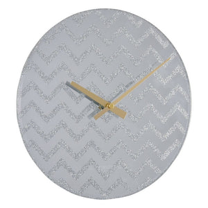 London Clock Co 35 cm Glitter Chevron Wall Clock