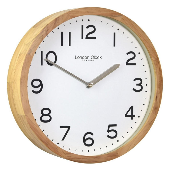 London Clock Co 32 cm Oak Finish Wooden Case Wall Clock