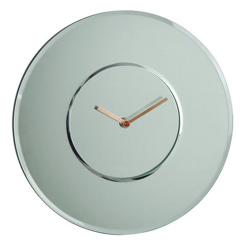 London Clock Co 30 cm Round Mirrored Wall Clock