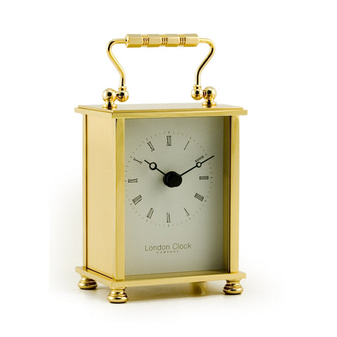 London Clock Co Classic Gold Finish Brass Carriage Clock