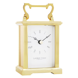London Clock Co Solid Brass Gold Carriage Clock