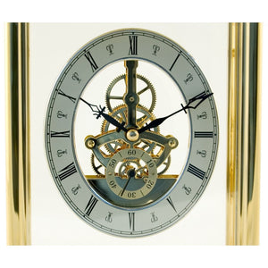 London Clock Co 16 cm Gold Finish Skeleton Carriage Clock