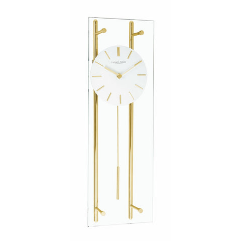 London Clock Co 55cm Glass Pendulum Wall Clock
