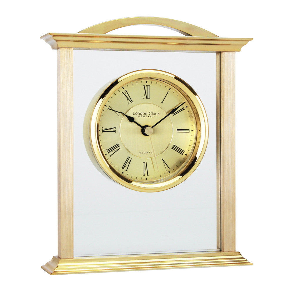 London Clock Co 18cm Gold Mantel Clock