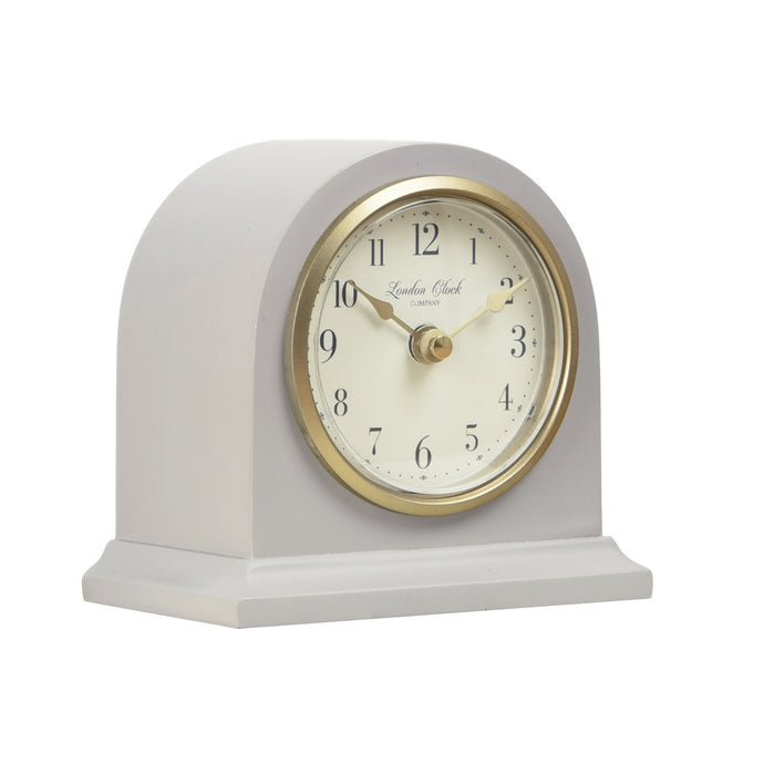 London Clock 1922  Heritage Lily Grey Arch Top Mantel Clock