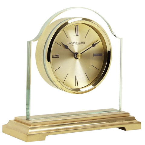 London Clock Co 15 cm Gold Break Arch Mantel Clock