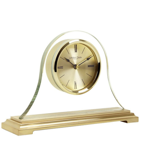 London Clock Co 16 cm Gold Napoleon Mantel Clock