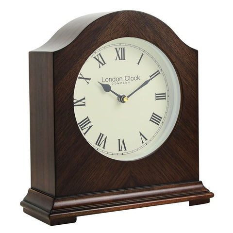 London Clock Co 23 cm Break Arch Wooden Mantel Clock