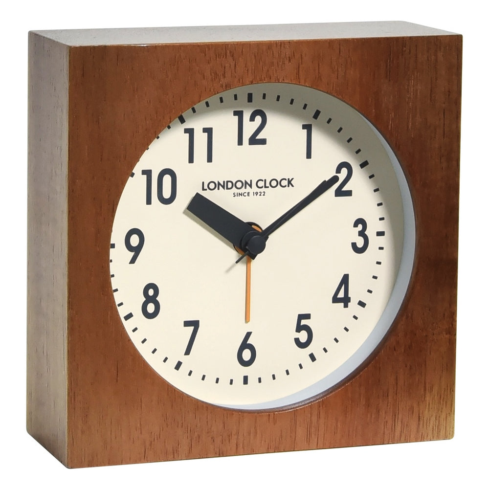 London Clock 1922  Urban Luxe Maxwell Wooden Block Mantel Clock