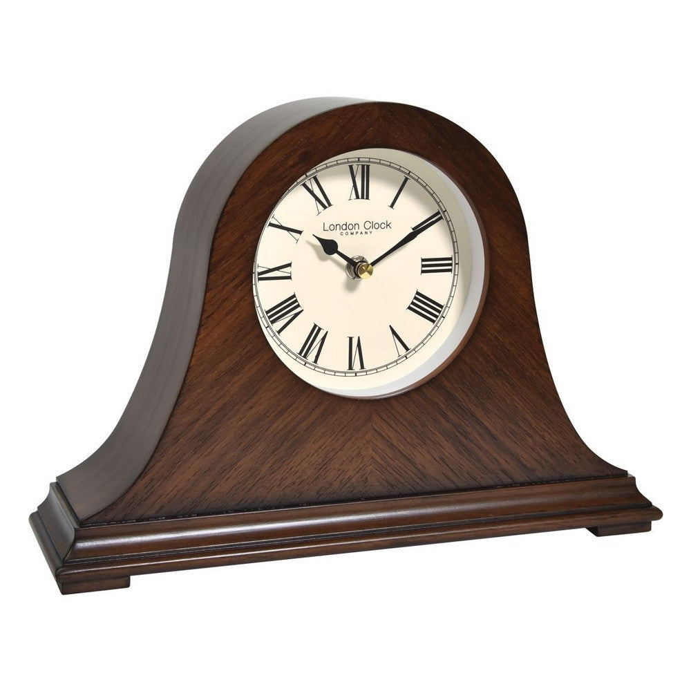 London Clock Co 21 cm Napoleon Wooden Mantel Clock