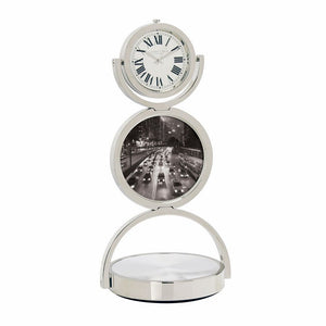 London Clock Co 16cm Double Spinning Quartz Desk Clock