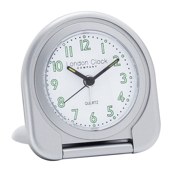 London Clock Co 8cm Silver Flip Alarm Clock