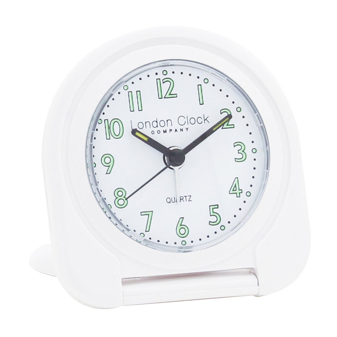 London Clock Co 8cm White Flip Alarm Clock