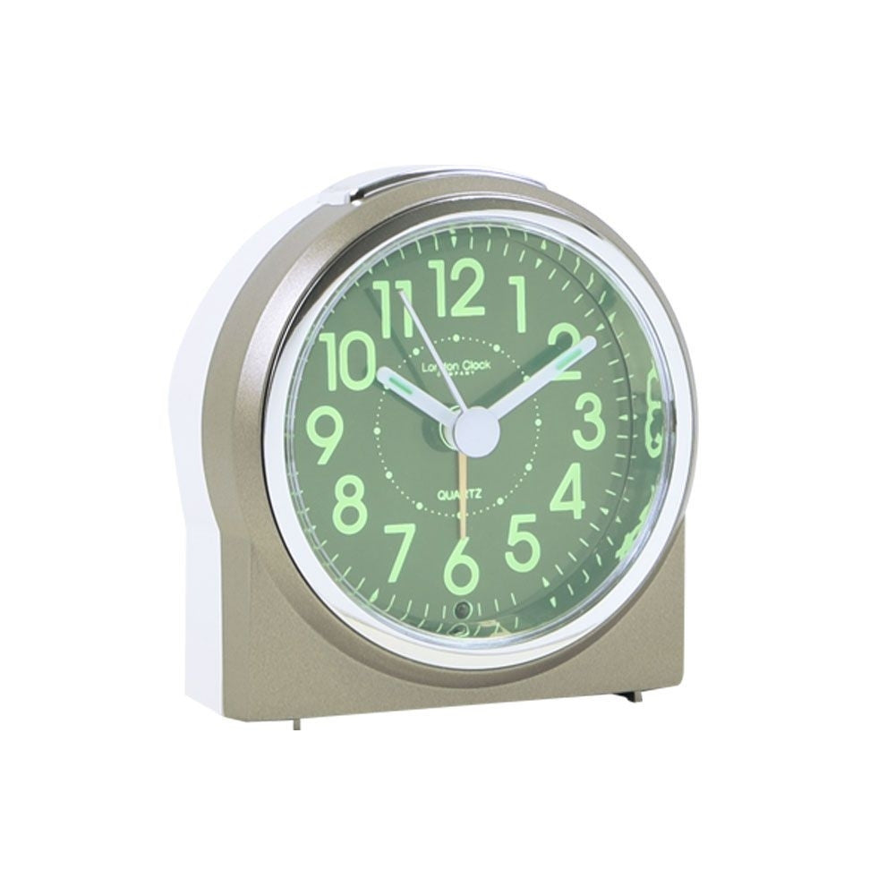 London Clock Co 9 cm Small Luminous Display Analogue Alarm