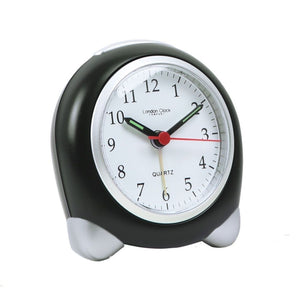 London Clock Co 9 cm Small Black/Silver Analogue Alarm