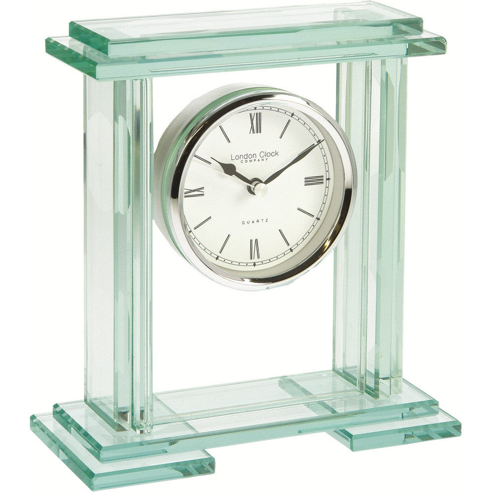 London Clock Co Modern Glass Quartz Carriage Clock by London Clock Co
