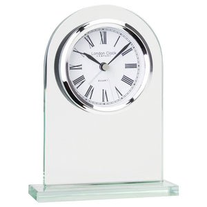 London Clock Co 14cm Arch Top Glass Mantel