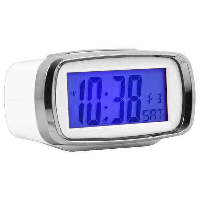 London Clock Co 5 cm White Digital Alarm Clock