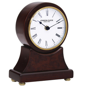 London Clock Co 19cm Dark Wooden Mantel Clock