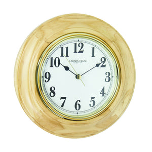 London Clock Co 22cm Light Wood Traditional Wall/Table Clock