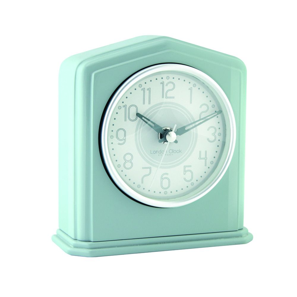 London Clock Co 14cm Green Piano Finish Mantel Clock