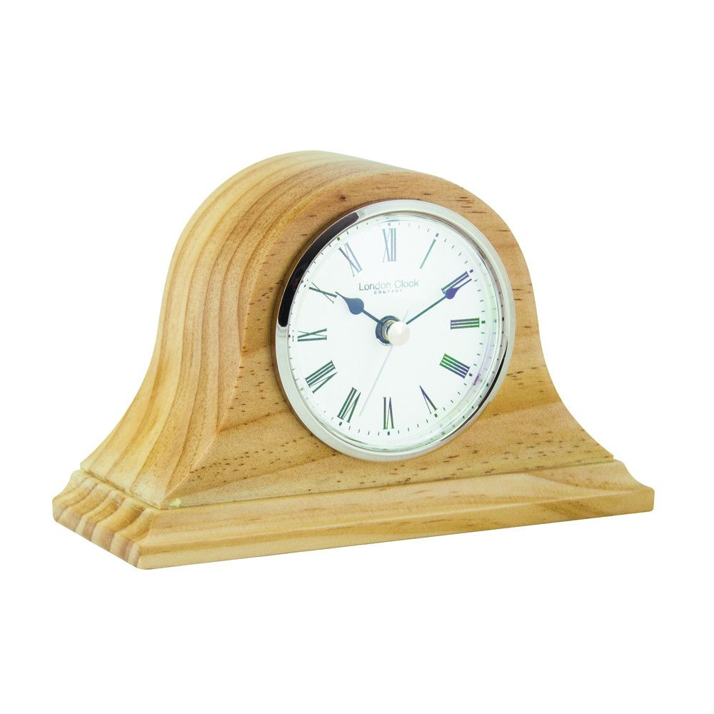 London Clock Co 11cm Light Wood Napoleon Mantel Clock