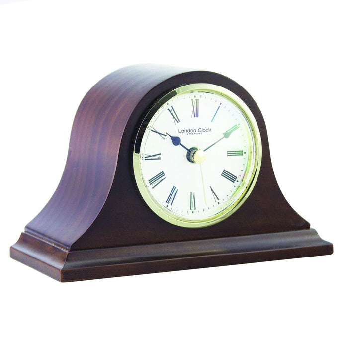 London Clock Co 11cm Dark Wood Napoleon Mantel Clock