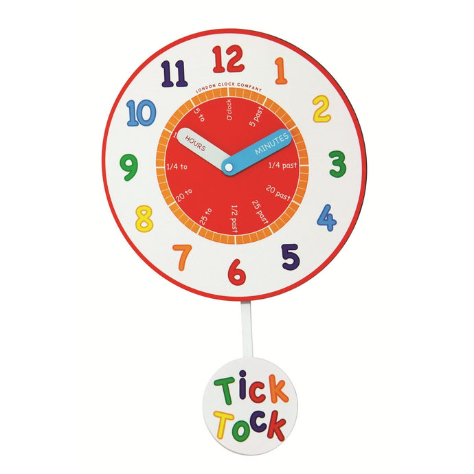 London Clock Co Children's Learning Tick Tock Wall Clock
