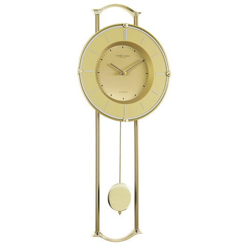 London Clock Co 58cm Gold Pendulum Wall Clock