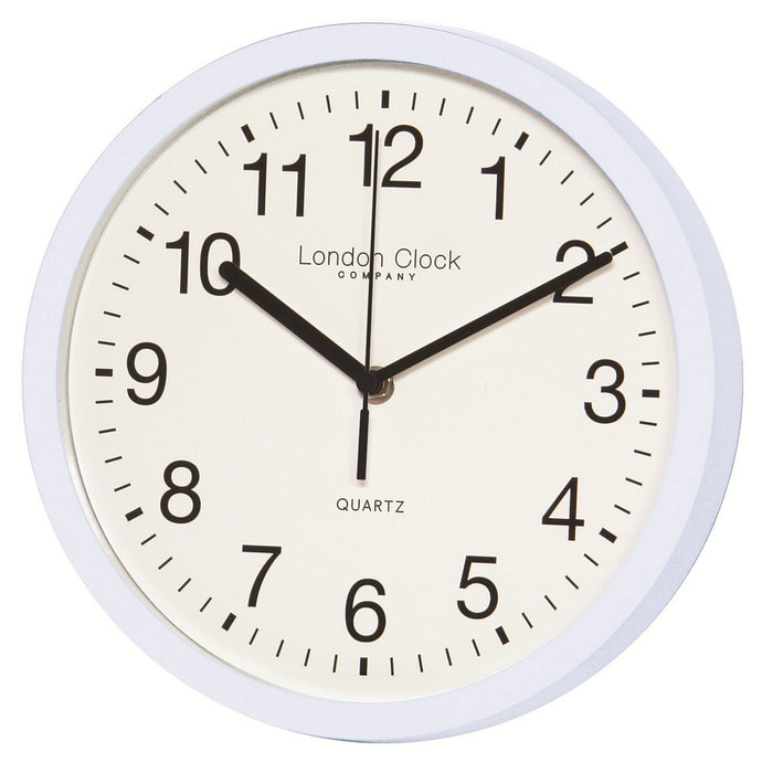 London Clock Co White Wall Clock with Sweeping Hands