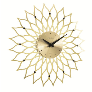 London Clock Co 38cm Gold High Gloss Modern Wall Clock