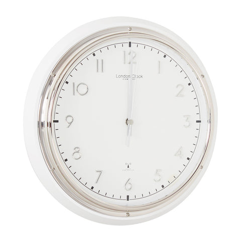 London Clock Co 30cm White Radio Controlled Wall Clock