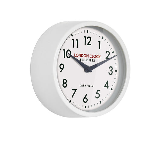 London Clock 1922 18cm Station Collection Horwich White Wall Clock
