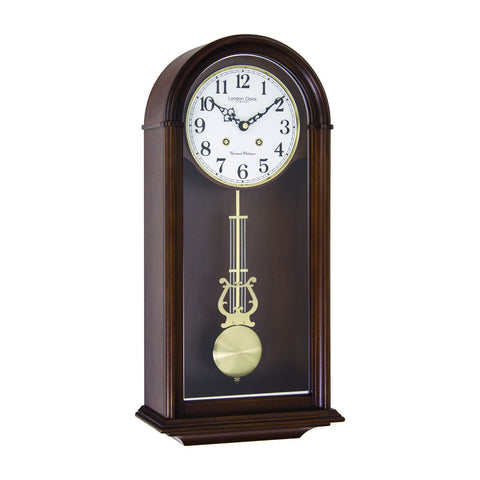 London Clock Co 51cm Dark Wood Traditional Pendulum Wall Clock