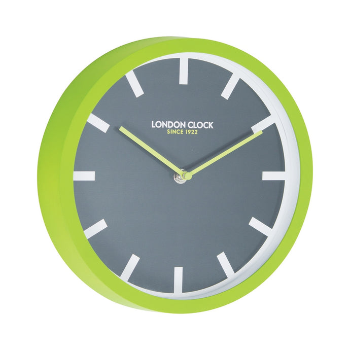 London Clock 1922  London Pop Pop Lime Green Wall Clock