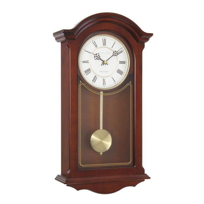 London Clock Co 52cm Walnut Traditional Pendulum Wall Clock
