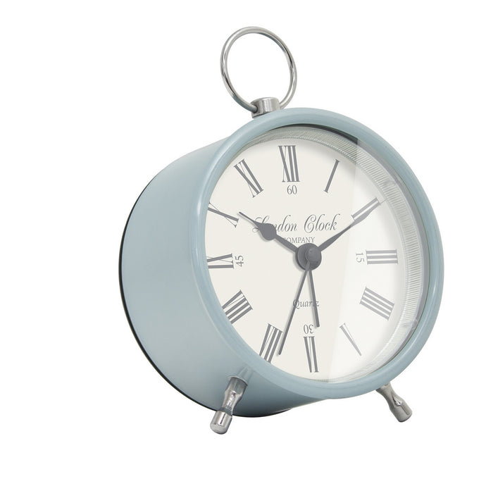 London Clock 1922  Heritage Emily Soft Blue Alarm Clock