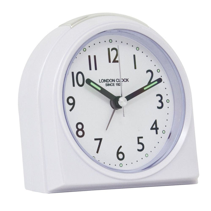 London Clock Co 1cm White Rounded Top Alarm Clock